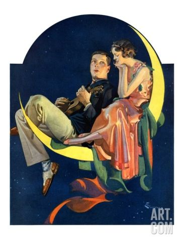 Crescent Moon Couple,June 14, 1930 Giclee Print by Elbert Mcgran Jackson at Art.com