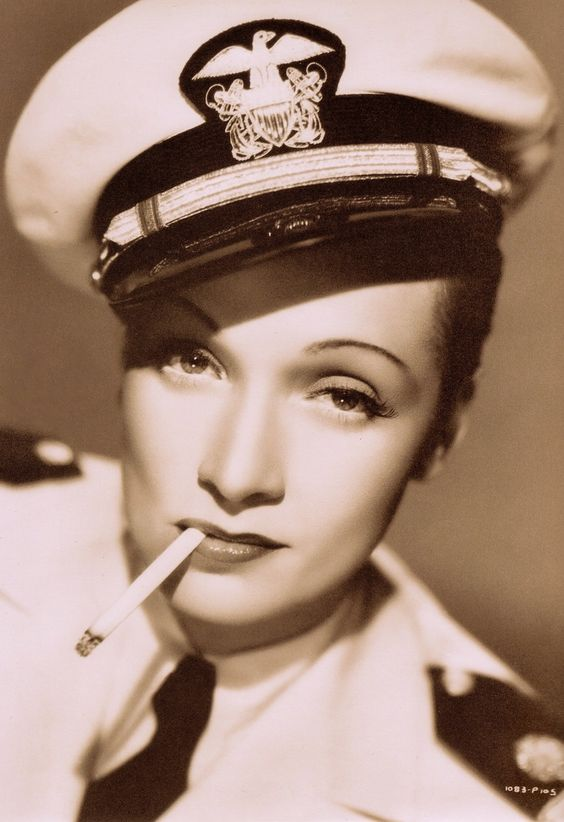 "MARLENE DIETRICH ""You can bet your life the man's in the navy"" Seven Sinners 1940. Directed by Tay Garnett. From a 2001 Marlene Dietrich German calendar. (follow minkshmink on pinterest):"