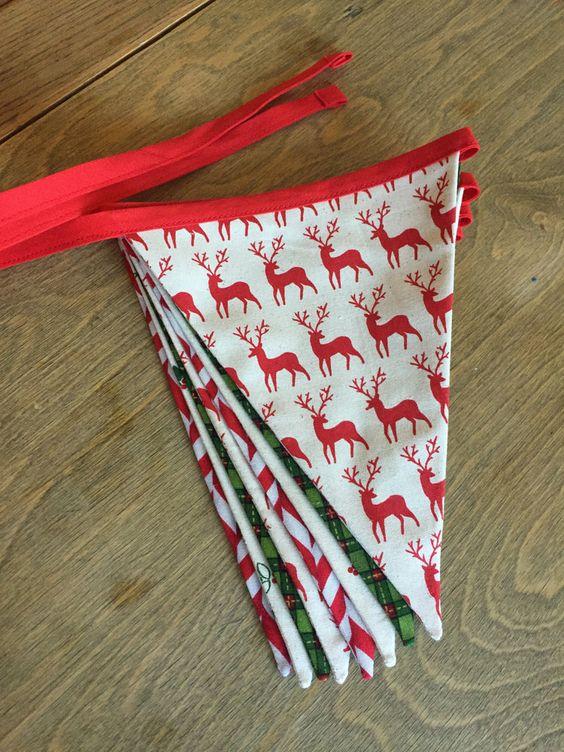 Christmas Bunting // Festive Bunting // by HeatherGerrickDesign