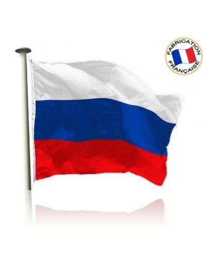 Drapeau Russie Made in France by Manufêtes