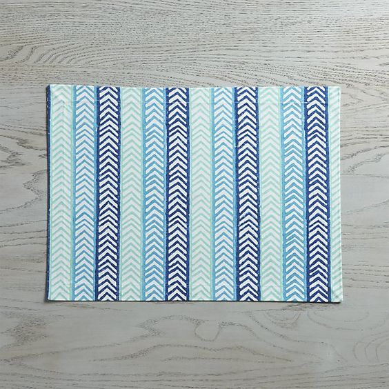 I think I generally prefer cloth placemats - and this one is so pretty!  Capri Placemat | Crate and Barrel