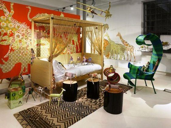 safari themed toddler bed girls | safari style african design kids rooms with safari jungle theme