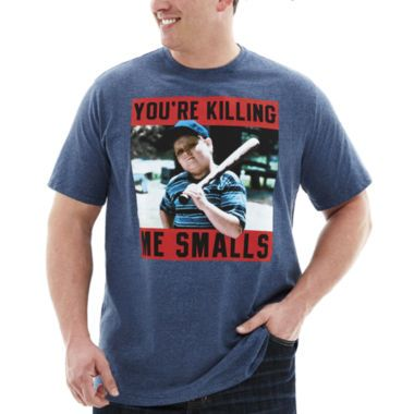 <p>Every Sandlot fan will want to spend his summers in this graphic tee, featuring the lovable catcher Ham, who spawned a classic catchphrase.</p><ul><li>crewneck</li><li>short sleeves</li><li>cotton/polyester</li><li>washable</li><li>imported</li></ul>
