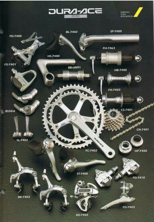 shimano dura ace 7400 | [vintage] cycling catalogs | pinterest, Fishing Reels