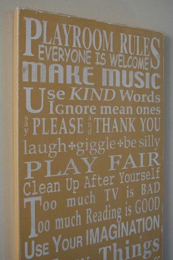 Playroom: Toy Rooms, Kids Room, House Rules, Girls Playroom, Basement Playroom, Playroom Signs, Playroom Ideas, Playroom Rules