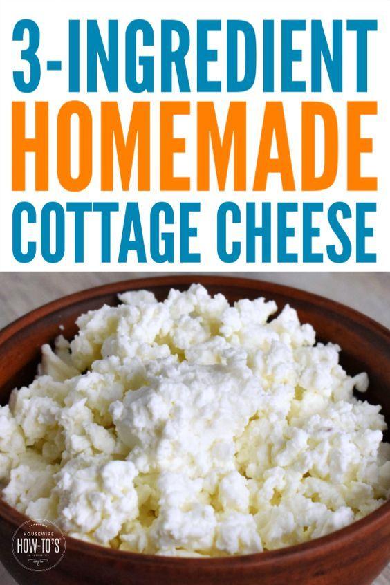 Homemade Cottage Cheese Recipe Recipe Homemade Cottage Cheese Cottage Cheese Recipes Cheese Recipes Homemade
