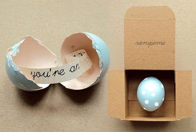 un ou amb missatge
