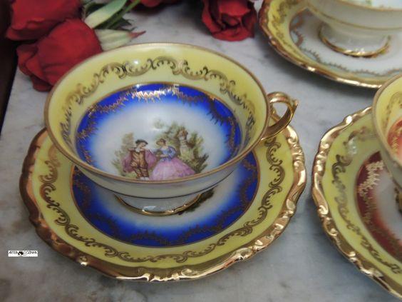 O chá era esquema obrigatório dos salões de antigamente em um ritual semanal e às vezes até diário.   Acervo:loja de Antiguidades  Fotografia:Simone Seffrin