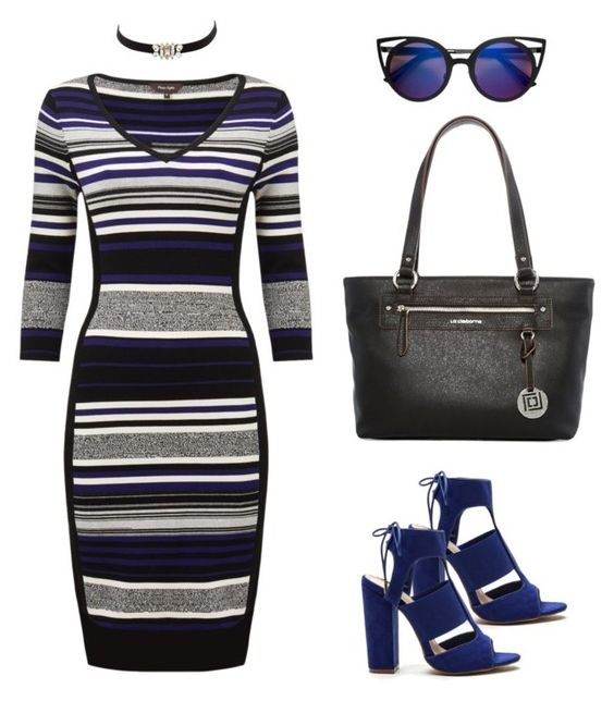 """""""Stripes for Hourglass Figure"""" by j-niblack ❤ liked on Polyvore featuring Phase Eight, Charlotte Russe and Liz Claiborne"""