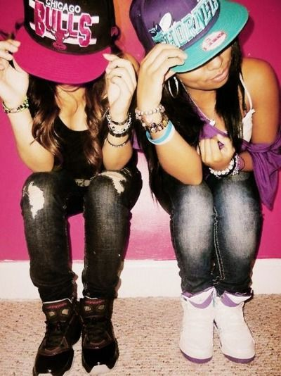 Mixed Pretty Girls With Swag And Snapbacks Pinterest • T...