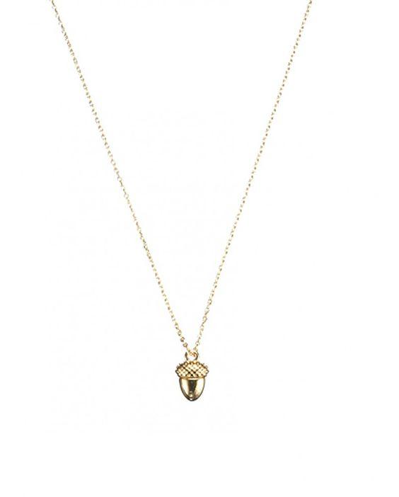 Estella BartlettAcorn Gold Necklace