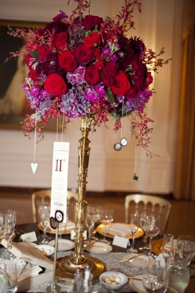 Centerpieces tall centerpiece and gold weddings on pinterest