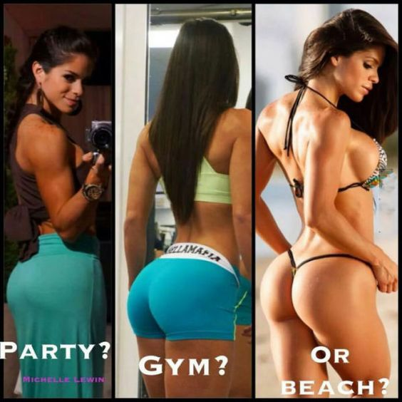 Party, Gym, Beach