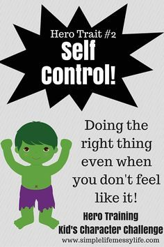 We are back for week two of Hero Training and excited to share all the fun things we did! This week we focused on the character trait of self control. If you haven't read the introduction to the series yet, check it out here (it has all the instructions and info you'll need). I hope you have fun …