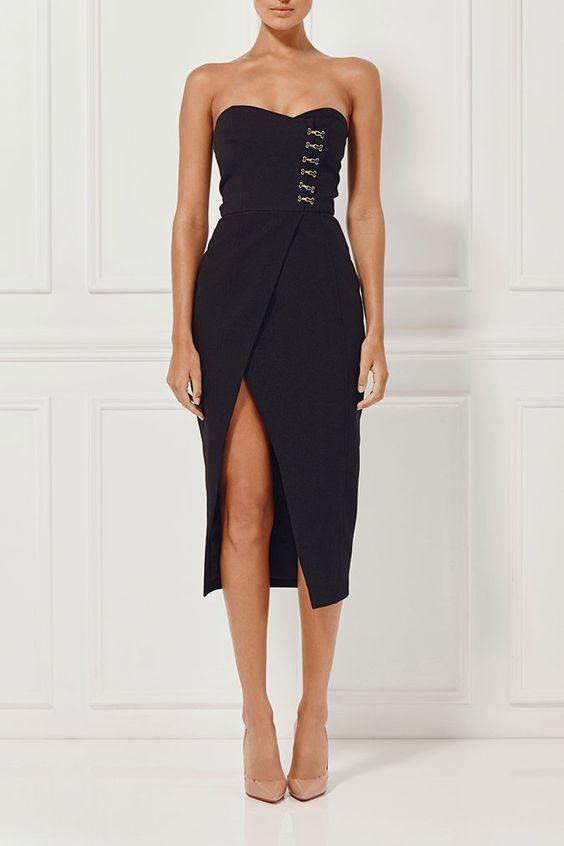 Misha Collection Pasquale Dress - Ebony - Coco California