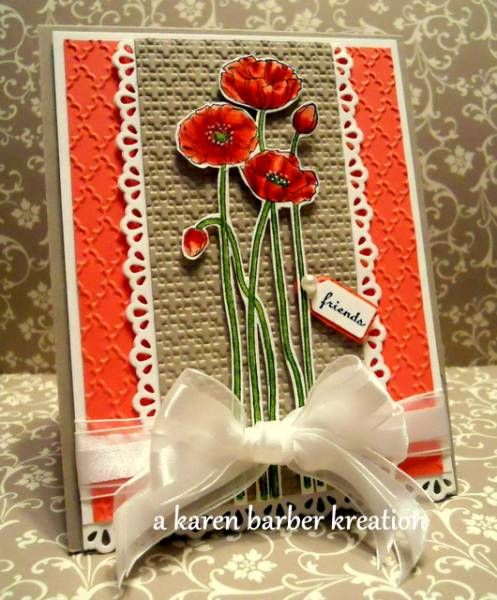 CC382 - POPPIES AND LACE