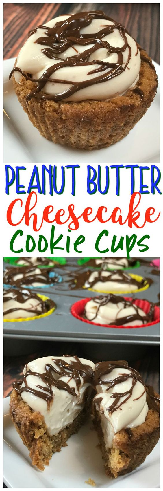 This Peanut Butter Cream Cheese Cookie Cup is SO easy to make and absolutely delicious!
