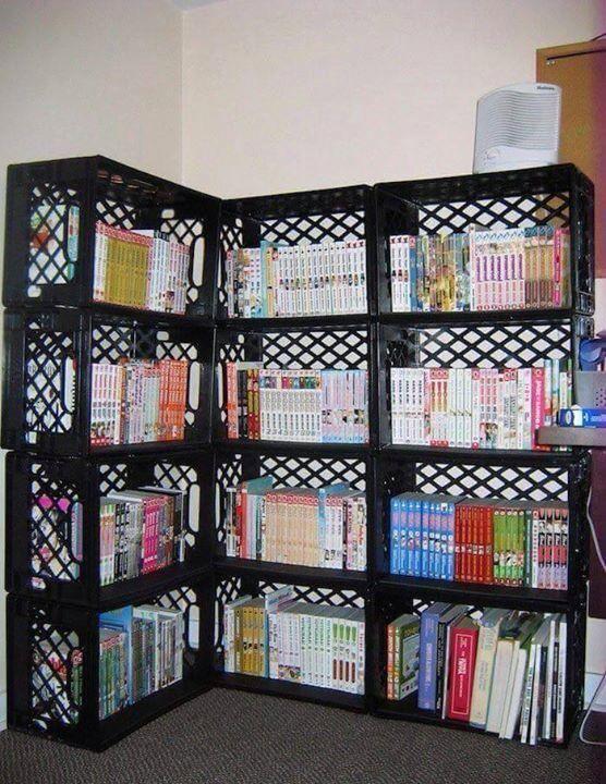 De Todo Un Poco Muebles Con Cajas De Plástico Muebles Con Cajas Cajas De Plástico Estantes De Cajas