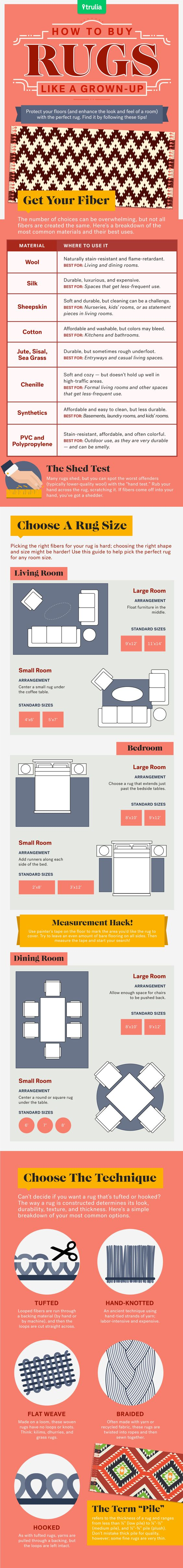 How do you buy a rug like a grown-up? We asked interior designers and industry professionals what they recommend looking for to find a rug that won't let you down and put it in this handy guide. Download the entire rug buying cheat sheet by clicking the link.