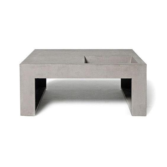 Sofatisch LB 1 - französisches Beton-Möbel von Lyon Beton