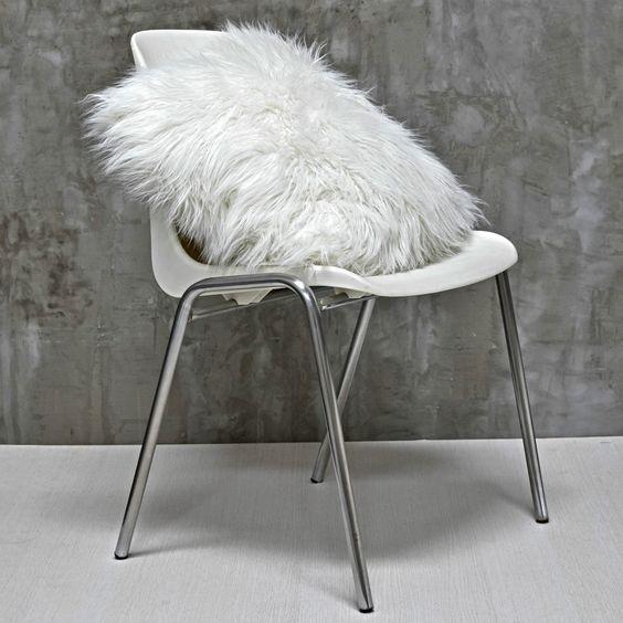 Quero - Almofada em pelo sintético para cadeira!: