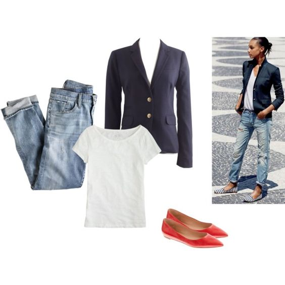 """Navy Schoolboy & Jeans"" by j-dubs on Polyvore"