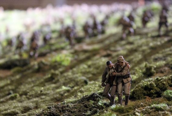 (Click for more detailed pictures) Mustering the Troops: First pictures of massive Gallipoli diorama at The Great War Exhibition in Wellington, New ZealandMustering the Troops