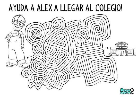 Colorear Vuelta Al Cole 15: Actividades Infantiles Vuelta Al Cole, Descargar Laberinto