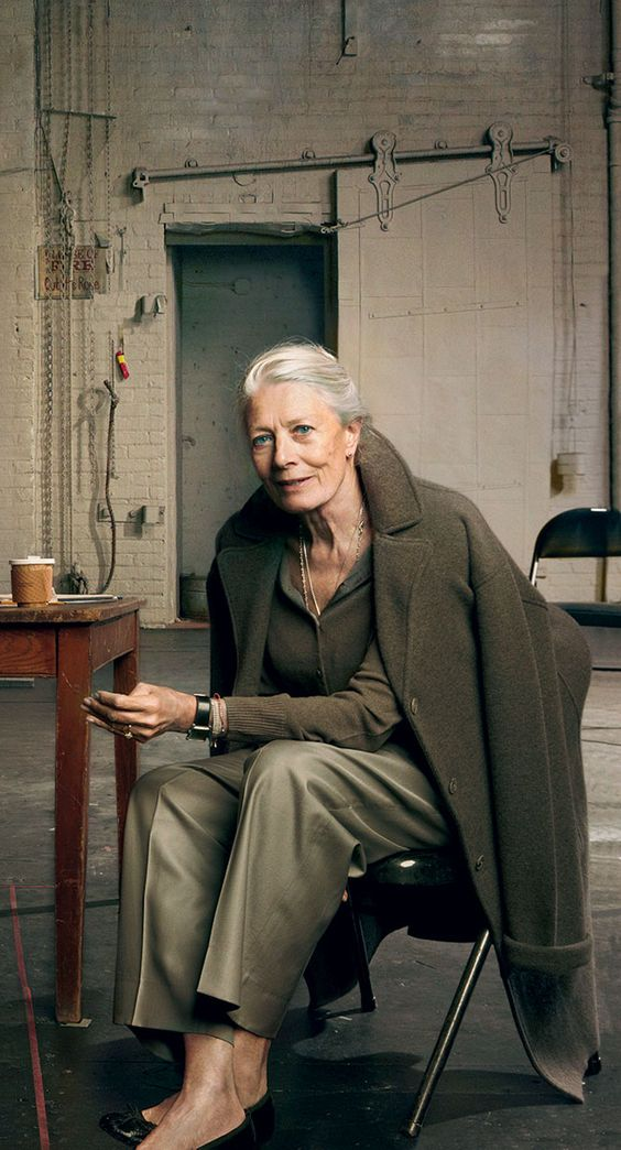 """Vanessa Redgrave, from """"8 Silver-Haired Icons We Want to See in Fashion's Next Big Campaign"""" - Photographed by Annie Leibovitz, Vogue, October 2010"""
