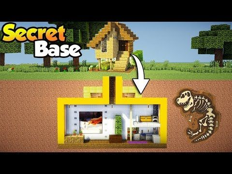 Minecraft Easy Secret Base With Starter House Tutorial How To