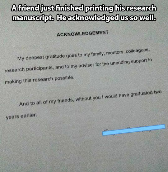 Image Result For Dissertation Acknowledgement Funny Caption Picture Everything Page