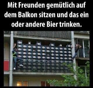 #bier #balkon