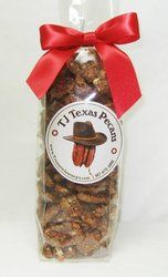 Great for gift baskets, wedding favors, graduation parties, or just to have as a snack.  Sweet n Spicy TJ Texas Pecans Gift bag