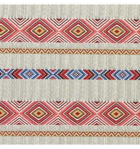 Jacquard aztèque rouge tissu price.com