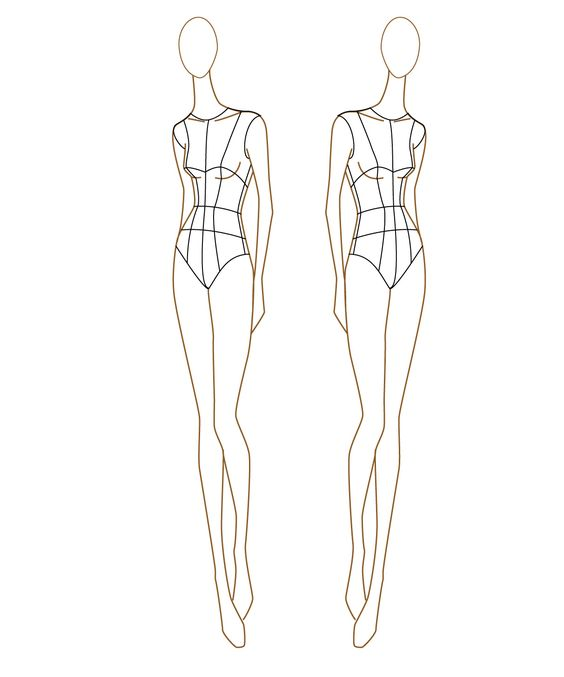 How to draw female figure with Figure Drawing Templates | Fashion ...