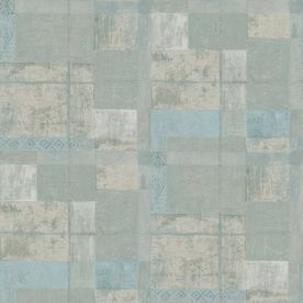 allen   roth�Gray Strippable Non-Woven Paper Prepasted Wallpaper