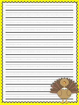 thanksgiving lined writing paper Basic kindergarten lined paper for kids aged 3 to 6 (tracing letters): over 100 basic handwriting practice sheets for children aged 3 to 6: this book  handwriting by tracing letters.