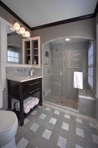 Master Bath 10026 eclectic bathroom #EasyPin