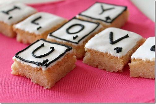 Shortbread Scrabble Cookies