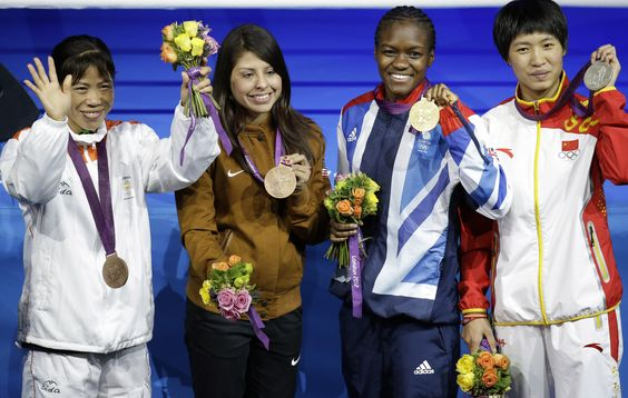 Mary Kom has done herself and the nation proud by winning the Bronze medal in women's boxing at the London Olympics. This was also the debut of women's boxing at the Games. (AP Photo)