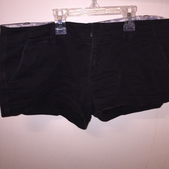 American eagle black shorts Super cute good condition American Eagle Outfitters Shorts Jean Shorts