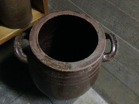 Lot van 35 bruine Keulse potten