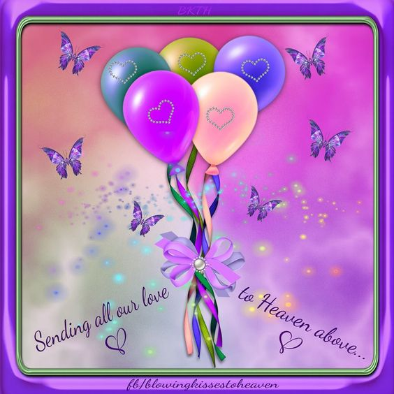 Sending Balloons to Heaven filed with Love to my Angel ...