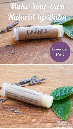 Make Your Own Natural Lip Balm - lavender mint