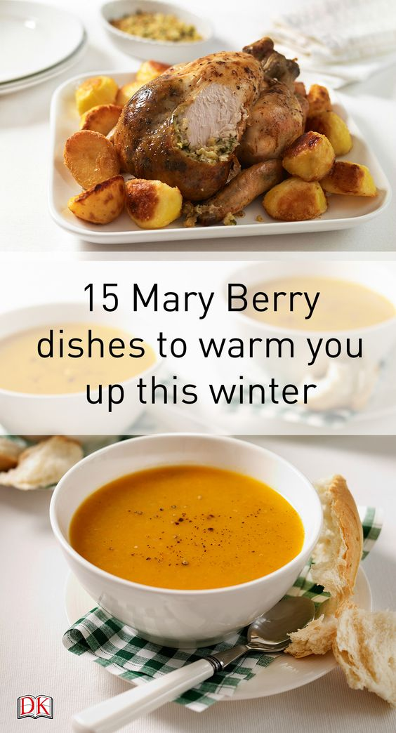 Just some of our favourite Mary Berry dishes for some winter food inspiration! These tasty winter ideas are taken from Mary Berry's Complete Cookbook - check out the list here: http://www.dk.com/uk/explore/food-drink/15-winter-dishes-to-warm-you-up-this-winter/