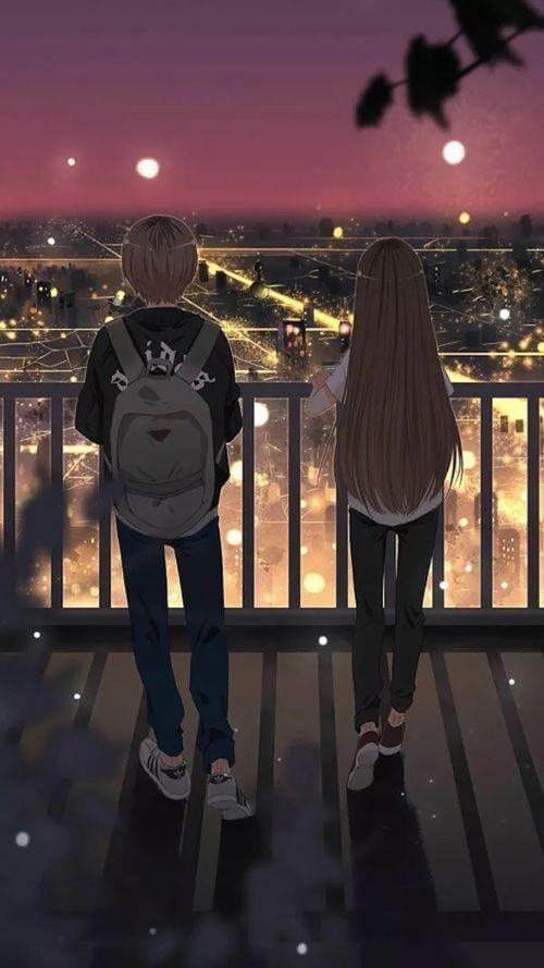 Wallpaper Pasangan Anime Gadis Animasi Gambar Pasangan Anime