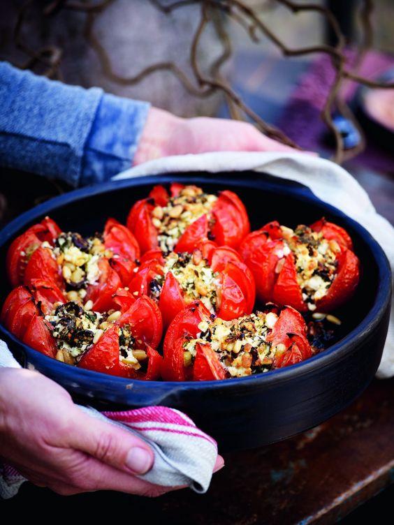 Tomaten met kruiden en feta   Pascale Naessens lekker!!