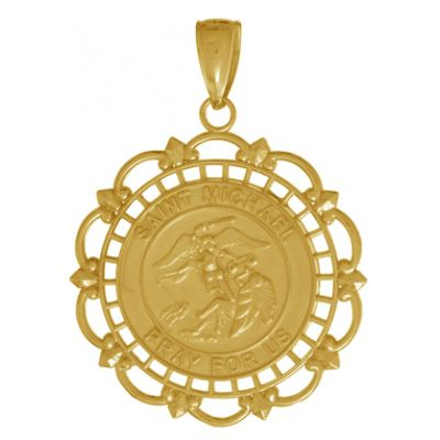 St michael emt medal 14kt gold by bliss catholic shopping st michael emt medal 14kt gold by bliss catholic shopping st michael the archangel pinterest aloadofball Images