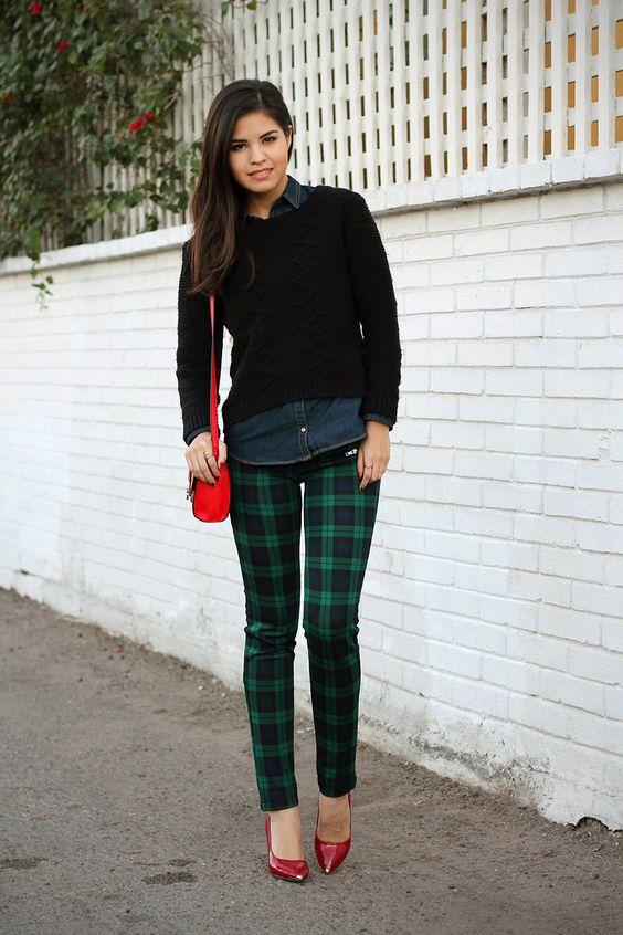 girls plaid pants - Pi Pants