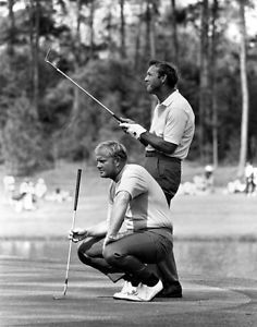 Arnold Palmer Jack Nicklaus 1972 Masters Golf Photo PGA Tour PGA Tour